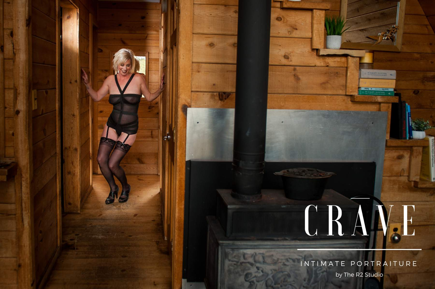 cabin boudoir session flagstaff